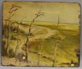 Doublesided New England Landscape Oil on Board