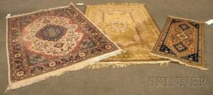 Two Machinemade Rugs and Persian Mat