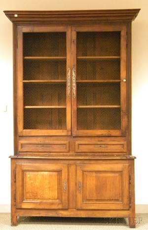 French Provincial Oak Stepback Biblioteque