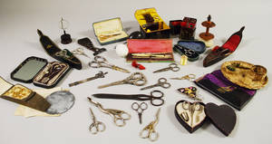 Lot of Mostly 19th Century Sewing Kits and Related Items