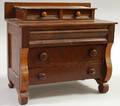 Miniature Empirestyle Mahogany Veneer Bureau