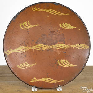 New England redware charger 19th c