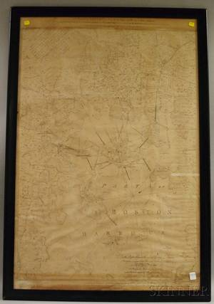 Framed Reproduction 1777 A Plan of Boston in New England with its Environs
