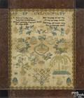 Chester County Pennsylvania silk on linen sampler early 19th c