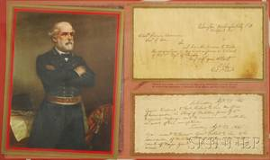 Framed General Robert E Lee Facsimile 1861 Letter
