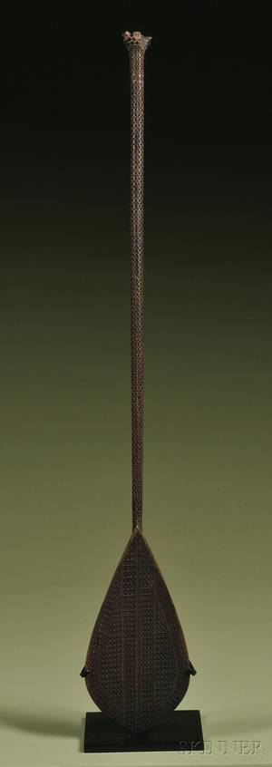 Austral Island Carved Wood Ceremonial Paddle