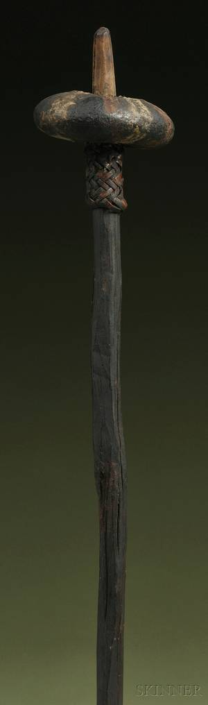 Papua New Guinea Stoneheaded Wood Club