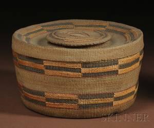 Tlingit Twined Rattletop Basket