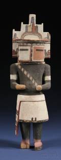 Hopi Polychrome Carved Wood Kachina Doll