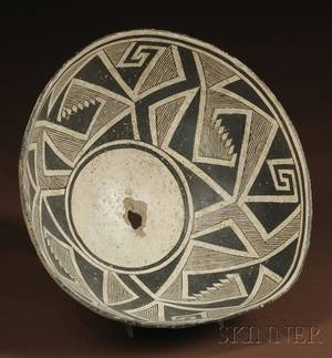 Mimbres Prehistoric Painted Pottery Bowl