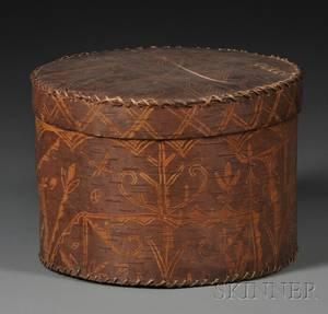 Penobscot Birch Bark Box with Lid