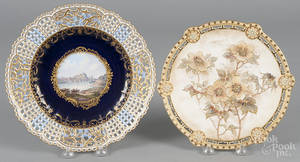 Meissen reticulated porcelain cabinet plate