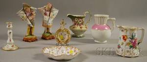 Seven Pieces of Assorted Decorated Porcelain