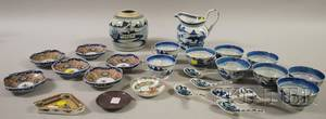 Twentyfive Pieces of Chinese and Asian Porcelain Tableware
