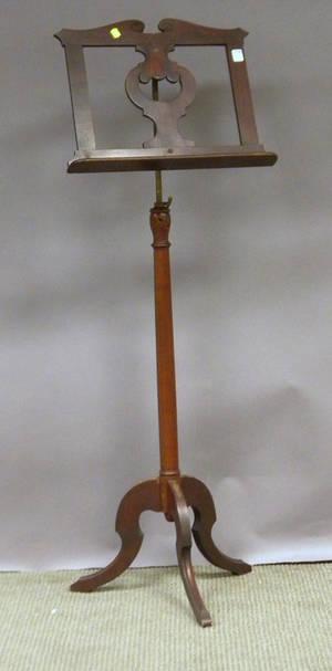 Neoclassicalstyle Giltmetal Mounted Mahogany Adjustable Sheet Music Stand