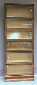 Oak Sixstack Barristers Bookcase