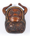 Japanese Meiji period carved figural Tonkotsu