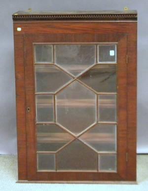 Georgian Glazed Mahogany Veneer Book Cabinet