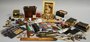 Lot of Miscellaneous Desk Items Collectibles and Ephemera