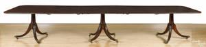 George III style mahogany triplepedestal dining table