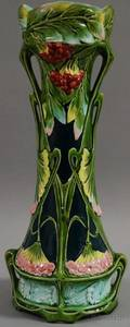 Art Nouveaustyle French Majolica Vase