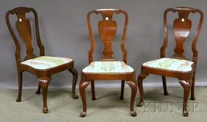 Set of Six Queen Annestyle Mahogany Dining Chairs