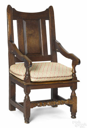 George I oak wainscot armchair ca 1720
