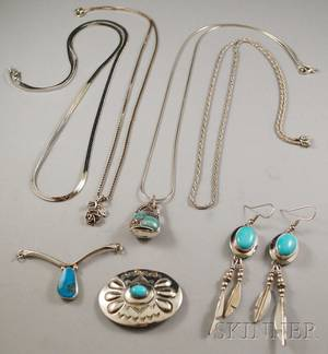 Small Group of Sterling Silver Jewelry