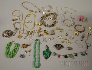 Group of Assorted Silver and Costume Jewelry