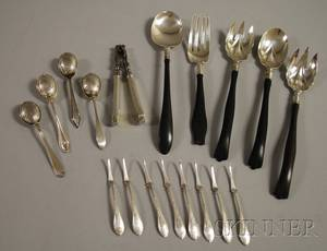 Group of Assorted Sterling Silver Tableware and Serving Items