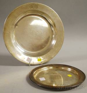 Two Sterling Silver Platters