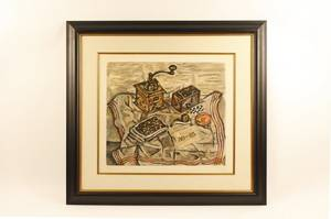 After Miro Still Life with Coffee Grinder Print
