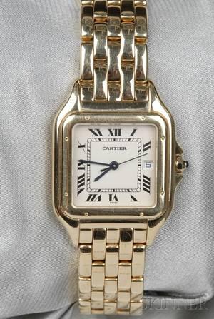18kt Gold Panthere Wristwatch Cartier