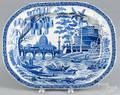Blue Staffordshire Tiber platter
