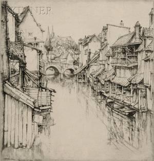 Ernest David Roth American 18791964 The Little Bridge Chartres
