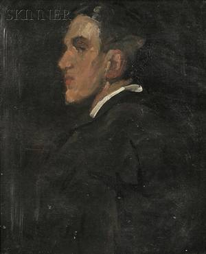 Alice Schille American 18691955 Profile Portrait of a Man