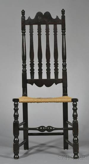Blackpainted Bannisterback Chair