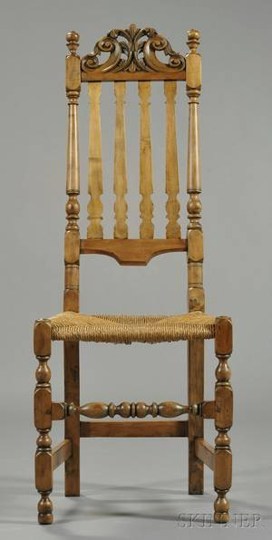 Carved Maple Bannisterback Chair