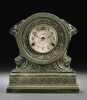 Majolica Pottery Clock