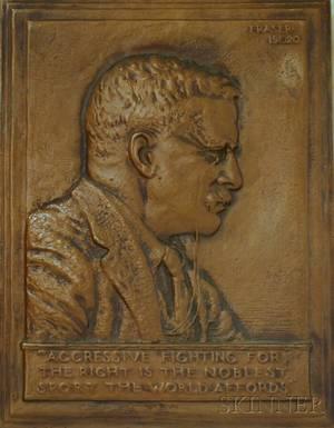 James Earle Fraser American 18761953 Portrait of Theodore Roosevelt