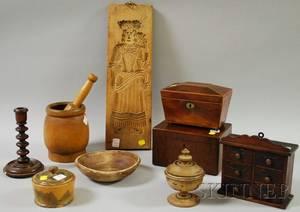 Eleven Assorted Wooden Articles