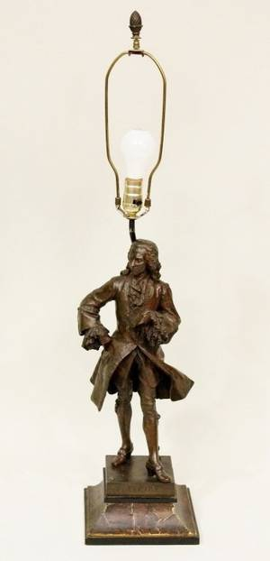 Emile Louis Picault French Bronze of Voltaire