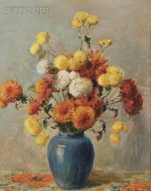 Carle John Blenner American 18621952 Still Life with Chrysanthemums