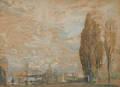 Arthur Clifton Goodwin American 18641929 Fenway Looking Across the CharlesHarvard Bridge