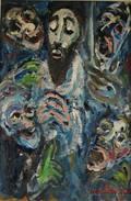 David Pallock American 19061977 Five Faces of Men