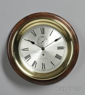 Brass Marine Wall Clock by the Waltham Clock Company