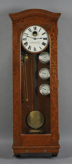 Standard Electric Time Company Oak Master Clock