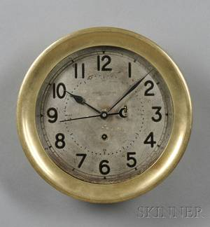 Brass Wall Clock by the Chelsea Clock Company