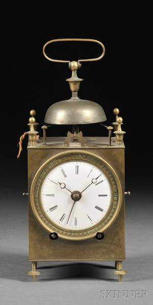 Brass French Capucine Clock