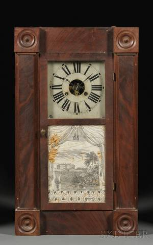 Chauncey Jerome Empire Mahogany Shelf Clock